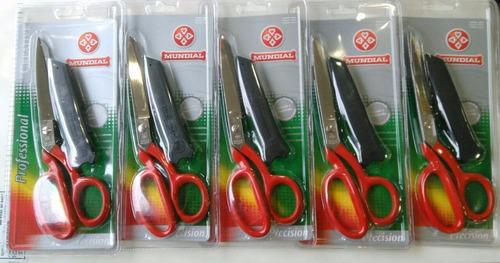 tijera mundial 270-8 sr mango rojo filo micro dentado