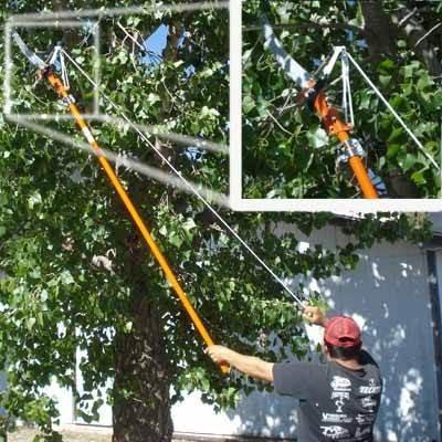 Tijera para podar rboles altos hasta 6 metros jard n for Arboles altos para jardin