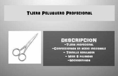tijera peluquero profesional 5 corte navaja acero inoxidable