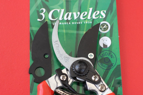 tijera poda 3 claveles con repuesto hoja mod. 302 (españa)