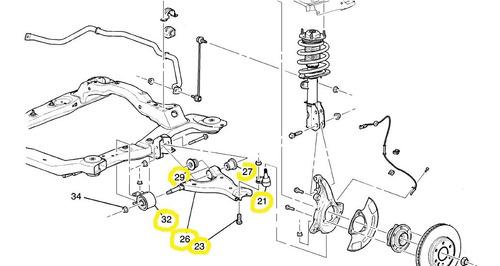 tijera suspension d rh inf chevrolet traverse 3.6 v6 09-17