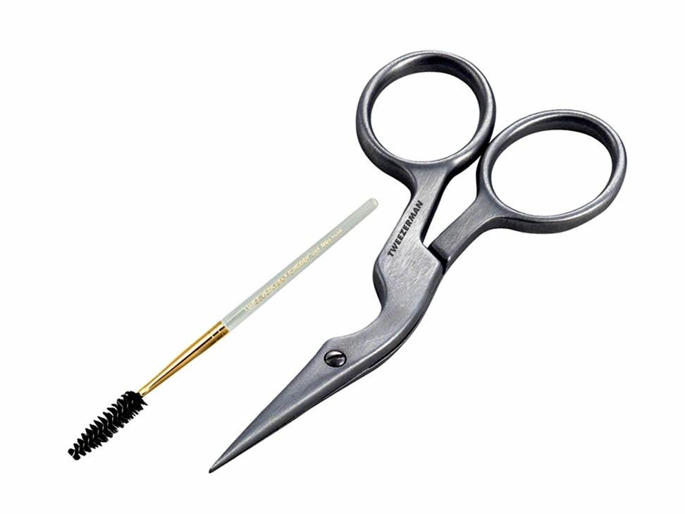 Tijera y cepillo para cejas acero inoxidable tweezerman for Cuanto sale hacer una pileta de material 2016