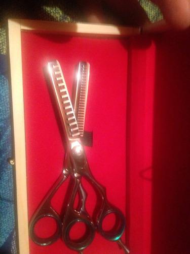 tijeras de peluquería entresacadoras dobles