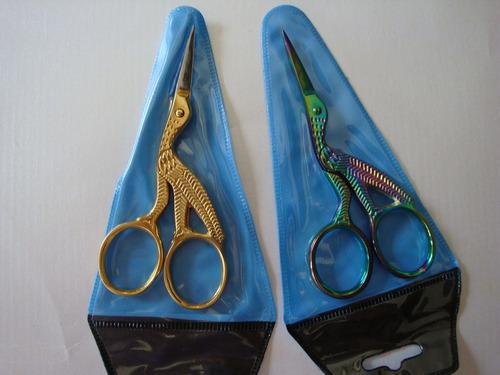 tijeras para hilos tipo garza bordado costura patchwork