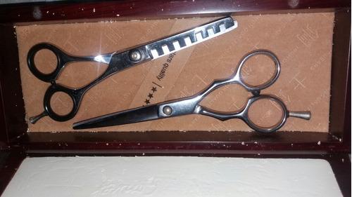 tijeras profesionales para cortar el cabello y para grafilar
