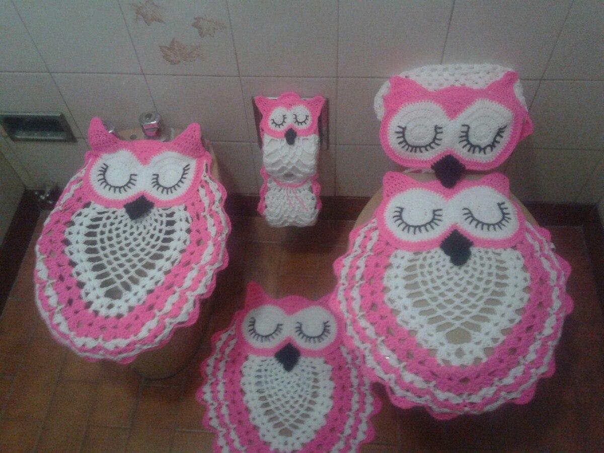 Tijido A Crochet Alfombra Búho Para Baño O Dormitorio - $ 550,00 en ...