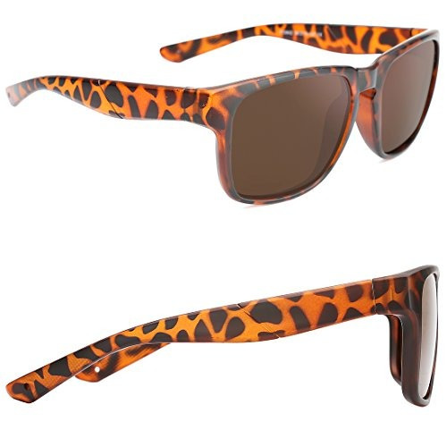 tijn clásico rectangular polarizadas anteojos de sol retro a