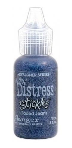 tim holtz - distress stickles glitter glue - faded jeans