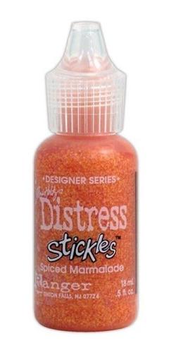 tim holtz - distress stickles glitter glue -spiced marmalade