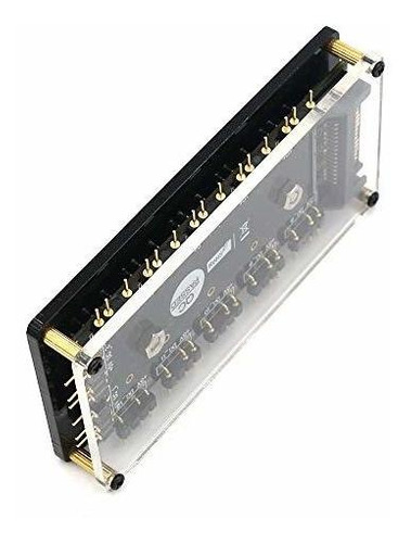 timack 12 way 5v rgb led splitter hub con caja de pmma y sep