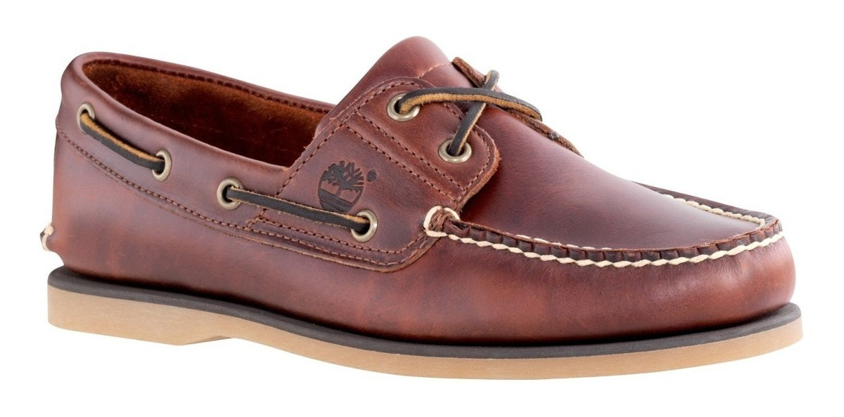 Timberland Classic 2 Eye Barco Zapato Marrón Root Beer