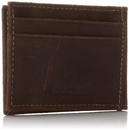 timberland hombre delta minimalista slim money clip cartera,
