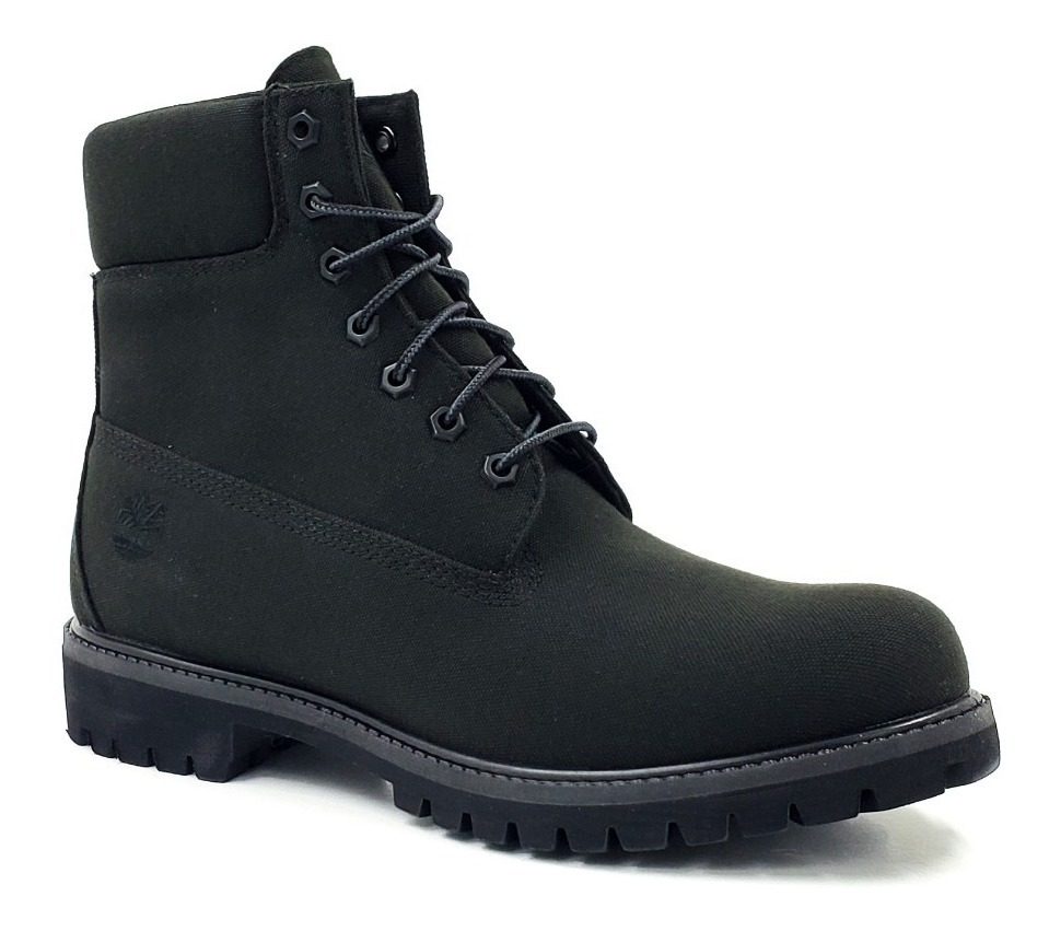 timberland canvas boots black