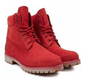 Timberland Premium 6in Waterproof Mens nubuck Rojo #27