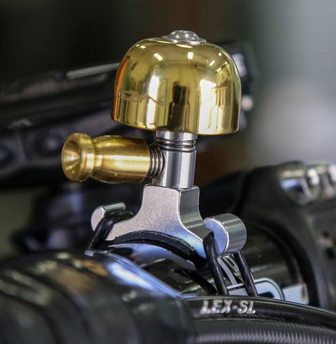 timbre bicicleta alum/bronce lezyne small brass bell- ciclos