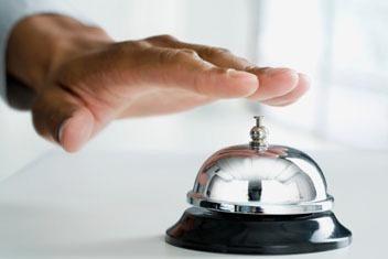 timbre de hotel mostrador excelente sonido