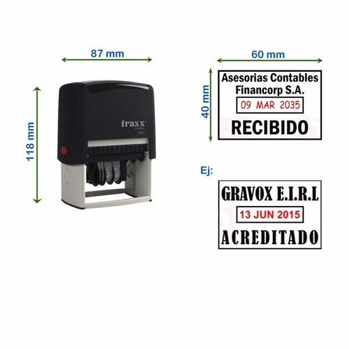 timbre fechador automático traxx 7027 - personalizable