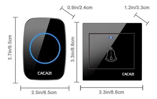 timbre inalámbrico cacazi led con alcance de 300 metros