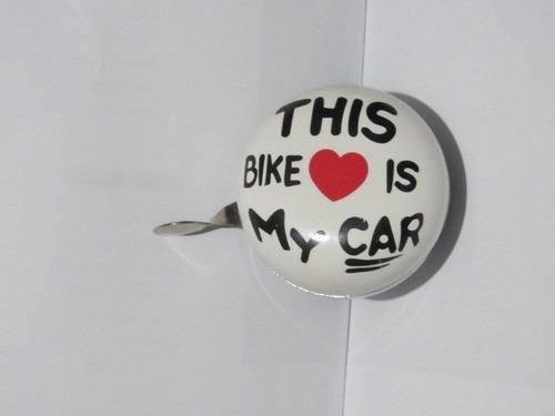 timbre para bicicleta clasico motivos