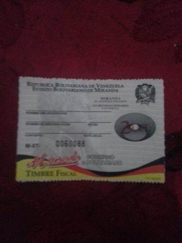 timbres fiscales estampillas de miranda 1 ut tramites gtu