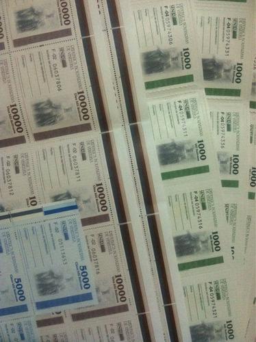 timbres fiscales nacionales de 1000, 5000 y 10000