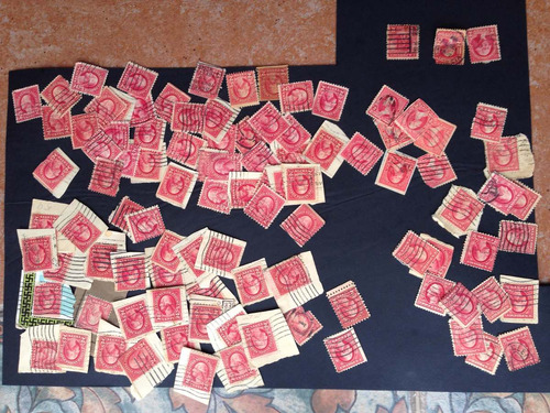 timbres postales 2 cents washington