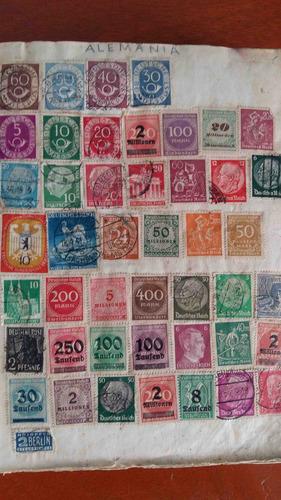 timbres postales colección de casi todo el mundo
