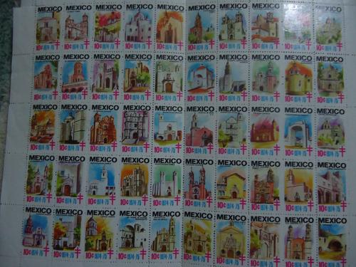 timbres postales contra la tuberculosis 1974 catedrales