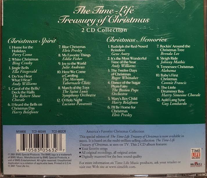 The Time Life Treasury Of Christmas.Time Life Treasury Of Christmas 2 Cd 2001 200 00