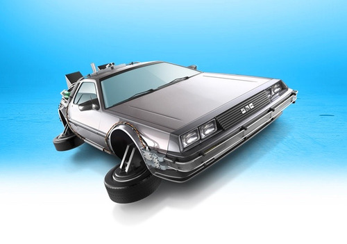 time machine hover mode hotwheels back future diecast