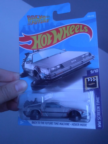 time machine volver al futuro delorean hover mode hot wheels