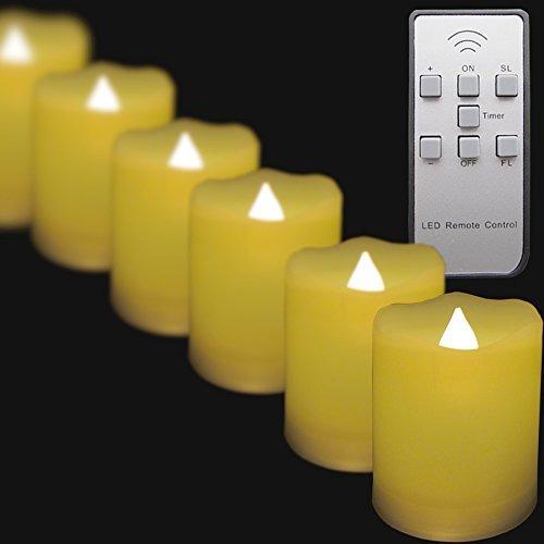 ?timer, 12 pcs baterías incluidas? 6 piezas velas led votiv