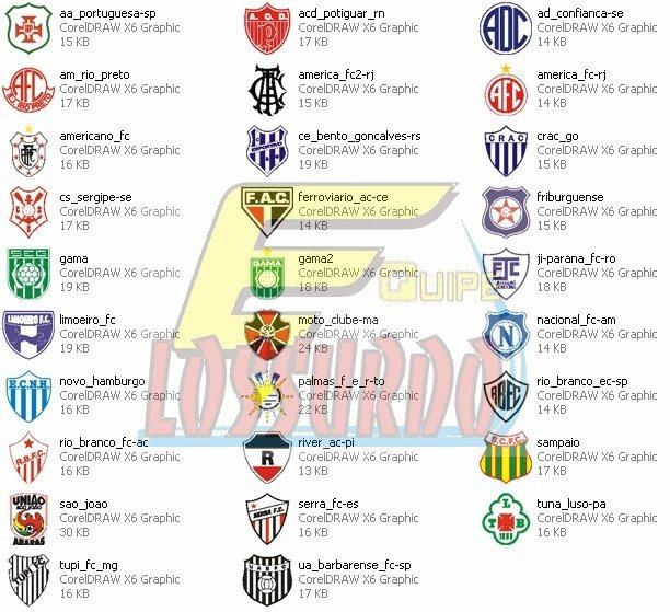 Times Futebol 1900 Arquivos Vetor Corel Draw Envio Grátis - R  16 003dabcd8e436