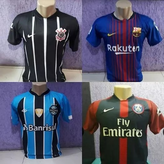 10 Camisas De Times De Futebol - Atacado - R  190 9a962e1ad16d1