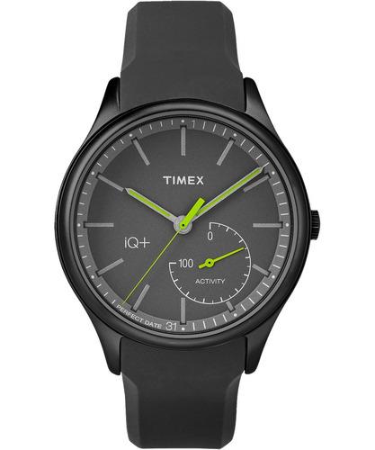 timex iq + move reloj de seguimiento de actividad - negro