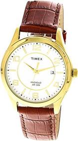 3db065486561 Timex Men  s Indiglo T2p449 oro Piel De Cuarzo Reloj De Mod