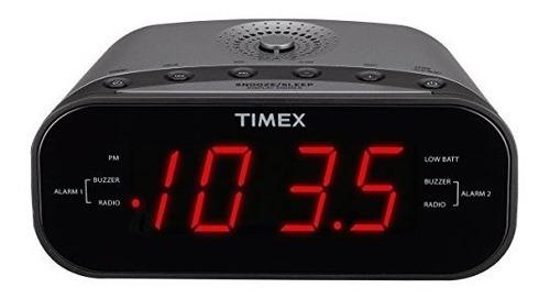 timex t231gy amfm radio reloj despertador dual con pantalla