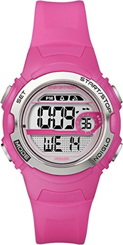 2581d93eff41 Timex T5k771 Ladies Brillante Pink Marathon Reloj Deportivo ...
