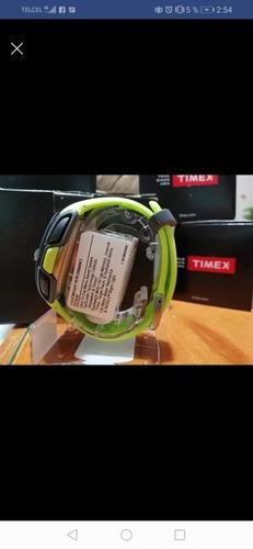 timex unisex ironman sleek 150 tap screen 100m green resin