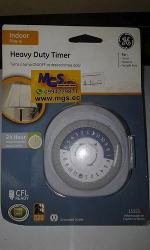 timmer programable de luces marca general electric.
