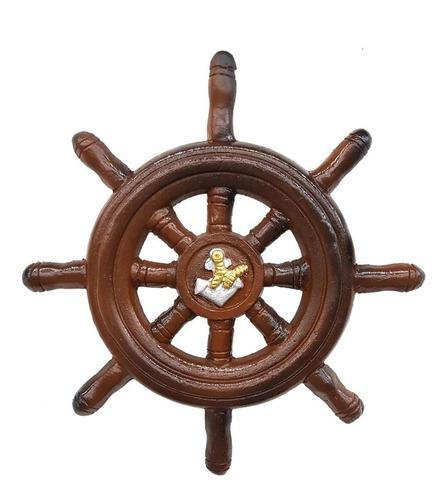 timão e âncora decoração náutica e praia p. 23 cm. e 32 cm.