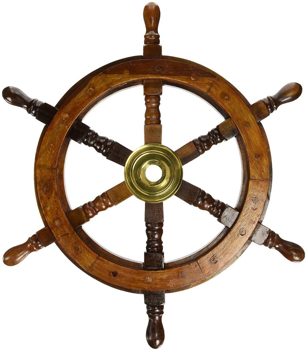 Tim 243 N Barco Decorativo Nautica Pirata 45cm Madera Y Lat 243 N