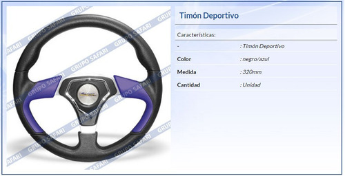 timon deportivo 315mm madera f804 sw-12002wo(rd)