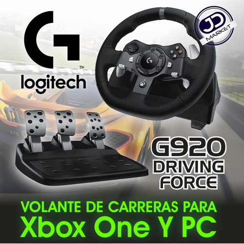 timón para pc y xbox one · logitech g920 driving force