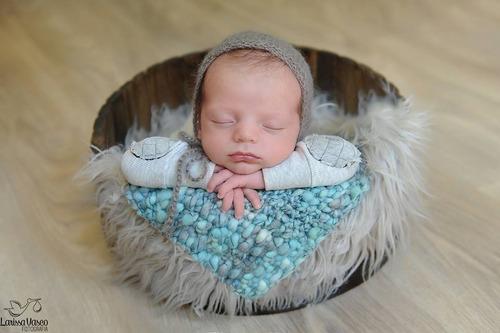 tina balde envelhecido prop foto newborn acompanhamento bebê