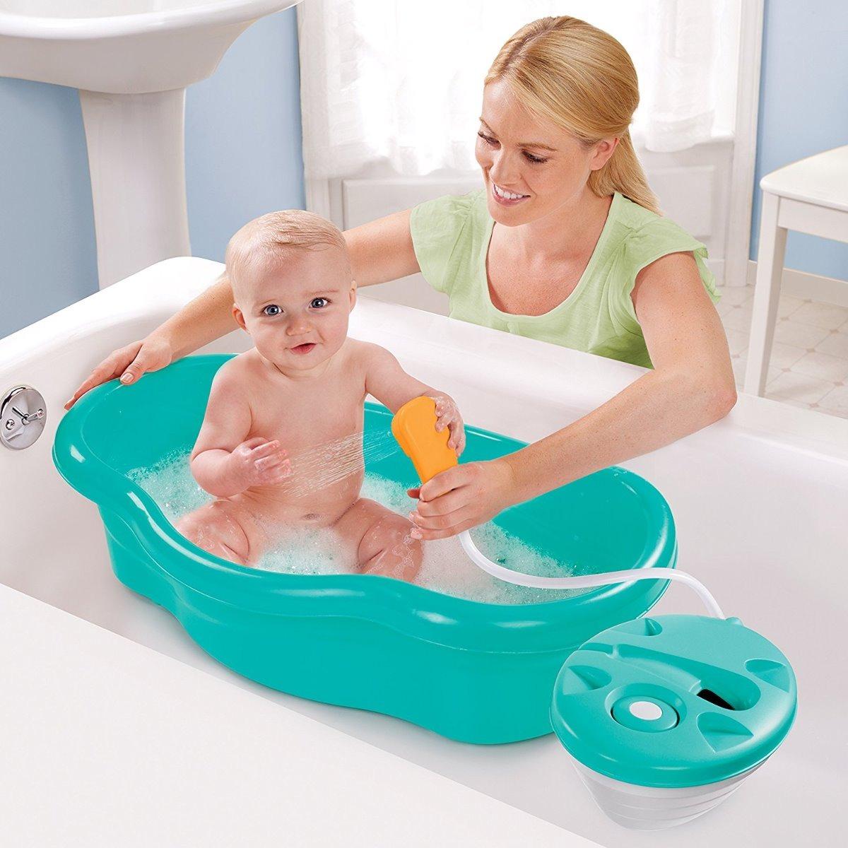 Tina ba era bebe con ducha incluida marca summer original - Banera ninos para ducha ...