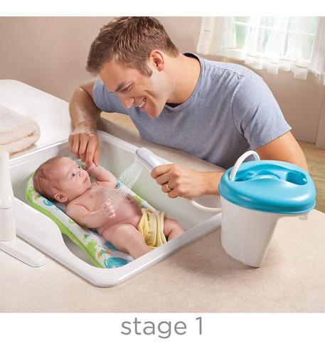 tina bañera con ducha motorizada para bebes - summer infant