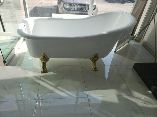 tina de baño antigua kand free standing color blanco oferta