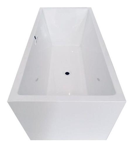 tina de baño minimalista sin hidromasaje kubik rectangular