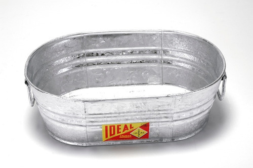 tina ovalada de lamina galvanizada # 00 - 12 litros ideal